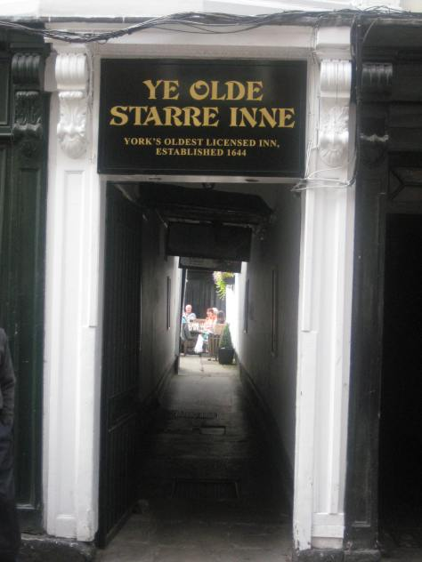 Ye Olde Starre Inn - the oldest pub in York?