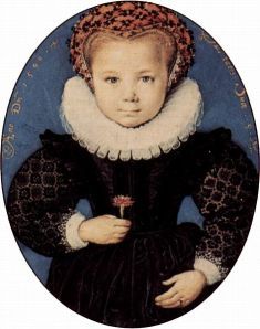 Five-year-old child wearing a ruff, 1590