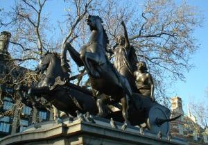 Statue of Boudicca at Westminster Bridge, London