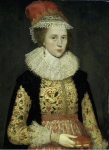 Margaret Laton wears the falling ruff collar in 1620