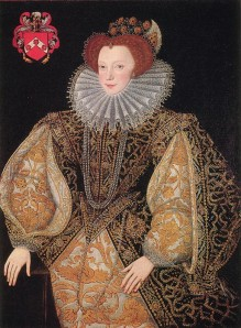 Lettice Knollys wears a cartwheel ruff in the 1580s