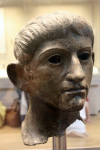 The bronze head of Claudius
