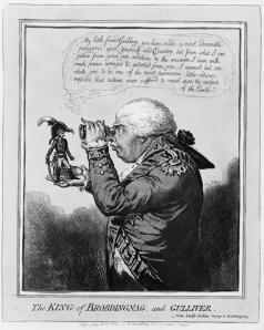 George III holds Napoleon in his hand