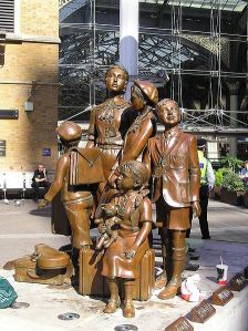 Memorial to the Kindertransport at Liverpool Street Station, London