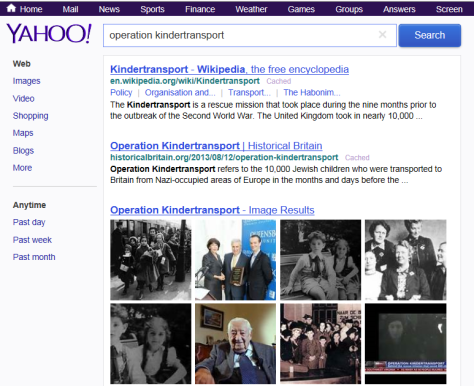 Yahoo - Operation Kindertransport