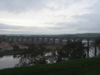 View of the Royal Border Bridge from Meg's Mount in Berwick-upon-Tweed