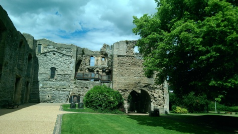The interior of the north curtain wall and gatehouse
