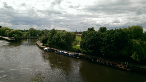 View from the riverside curtain wall to the River Trent